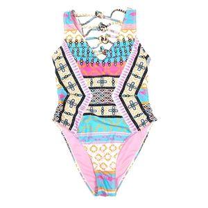 YMI Colorful Flamingo One Piece Swimsuit